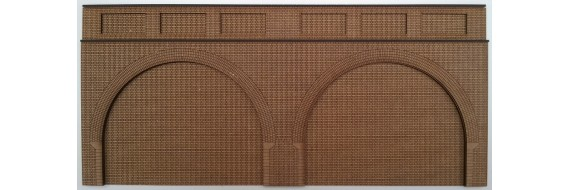 O Gauge Double Low Relief Arch