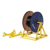 KS51-02-03: O Scale Cable Drum 7½ft with Stand and Carrier